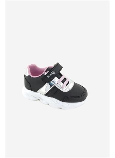 Necix's Funny Bebek Cırtcıtlı Spor Ayakkabı-Siyah-Pembe Funny Bebek Cırtcıtlı Spor Ayakkabı-Siyah-Pembe Renkli